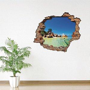 Adesivo Buraco 3D - Praia
