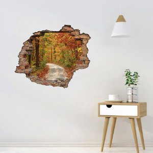 Adesivo Buraco 3D - Floresta de Outono