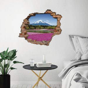 Adesivo Buraco 3D - Monte Fuji