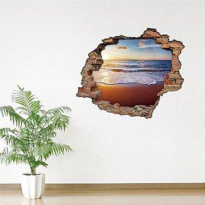 Adesivo Buraco 3D - Pés na Areia