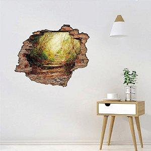 Adesivo Buraco 3D - Caminho na Floresta