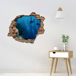 Adesivo Buraco 3D - Mergulho no Mar