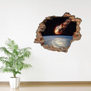 Adesivo Buraco 3D - Meteoro
