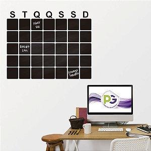 Adesivo De Lousa Formas - Calendario 01