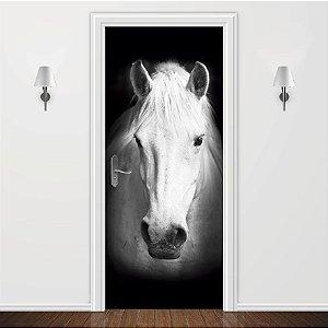 Adesivo para Porta Cavalo Branco