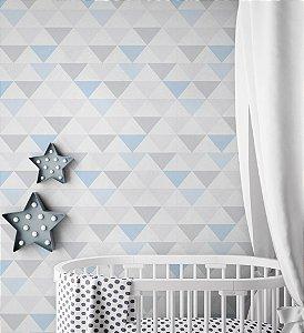 Papel de Parede Adesivos Triângulos Azuis