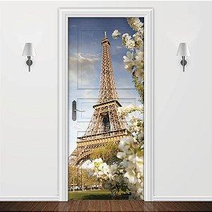 Adesivo para Porta Paisagem Paris Torre Eiffel