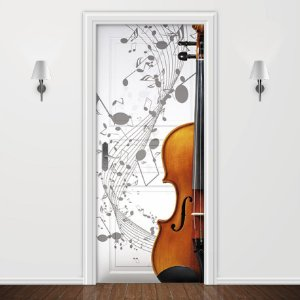 Adesivo para Porta Musica Violoncelo