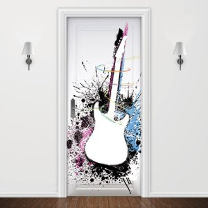 Adesivo para Porta Musica Guitarra