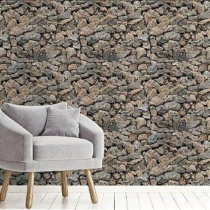 Papel de Parede Adesivo Pedras Rústicas Antigas