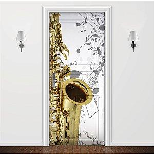 Adesivo para Porta Musica Saxofone2