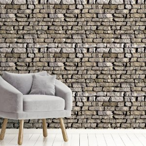 Papel de Parede Adesivo Pedras irregulares