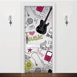 Adesivo para Porta Musicas Jovens