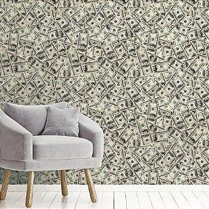 Papel de Parede Adesivo Dólares