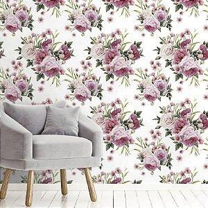 Papel de Parede Adesivo flores Camélias