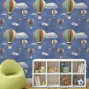 Papel de Parede Adesivo Balões Coloridos