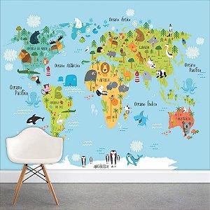Painel Fotográfico - Mapa Mundi Infantil