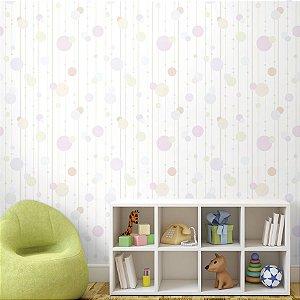 Papel de Parede Adesivo Infantil Confetes