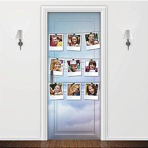 Adesivo para Porta Personalizada Varal de Fotos