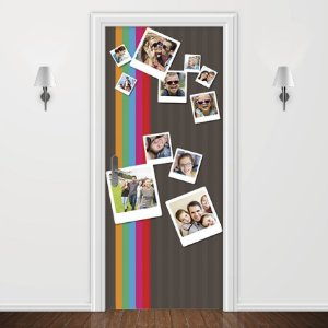 Adesivo para Porta Personalizada 11 Fotos Polaroid
