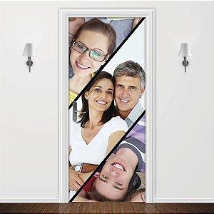 Adesivo para Porta Personalizada 3 Fotos
