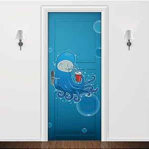 Adesivo para Porta Infantil Polvo Azul