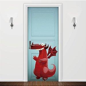 Adesivo para Porta Infantil Dragão Vermelho