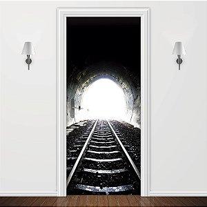 Adesivo para Porta Túnel de Trem