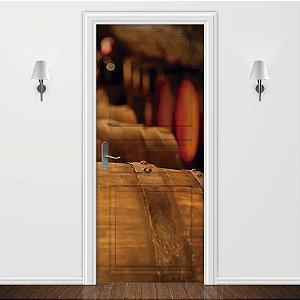 Adesivo para Porta Borgonha
