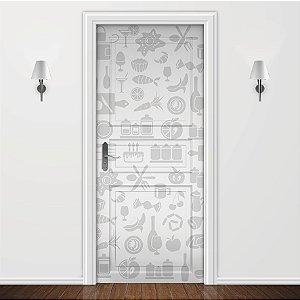 Adesivo para Porta Cozinha Cinza