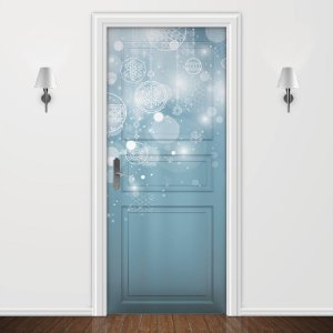 Adesivo para Porta Brilho de Natal