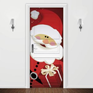 Adesivo para Porta Papai Noel