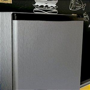 Adesivo Envelopamento para Geladeira - Aço Escovado