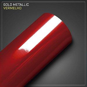 Adesivo Colorido Metálico Vermelho
