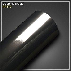 Adesivo Colorido Metálico Preto
