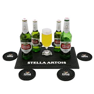 Kit Bar Mat Stella Artois Preto