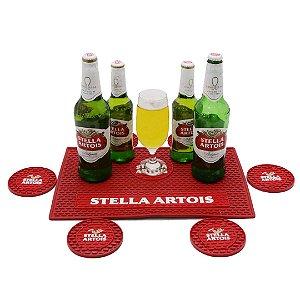 Kit Bar Mat Stella Artois Vermelho