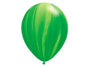 "Balão Marmorizado Verde - Látex 11"" (Agate - 5 un)"