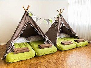 Festa do Pijama – Aluguel de Cabanas (8 crianças)