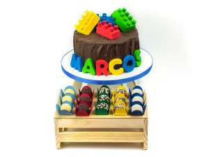 Bolo + Doces - Festa Lego