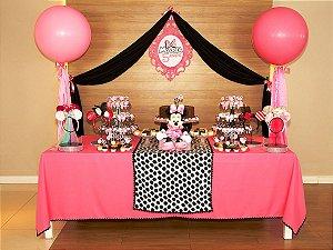 Festa Minnie Rosa - Aluguel de Decoração