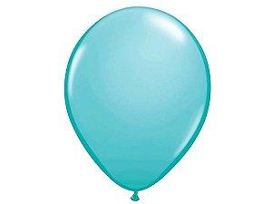 """Balão Látex 16"""" - Azul Tiffany (5 un)"""