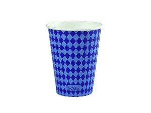 Copo de papel descartável - Azul (240ml)