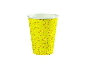 Copo de papel descartável - Amarelo (240ml)