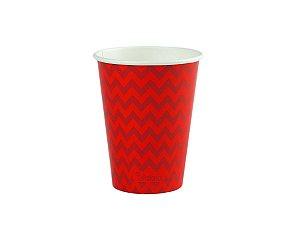Copo de papel descartável - Vermelho (240ml)