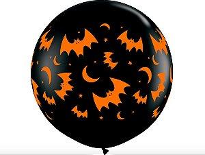 Balão Gigante Halloween - Morcegos e Lua