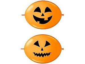 """Balão Halloween Abóbora 12"""" - Duas Pontas"""