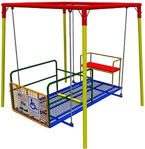 Brinquedo balanço frontal para cadeira de rodas