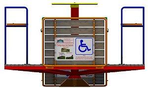 Brinquedo carrocel para cadeira de rodas