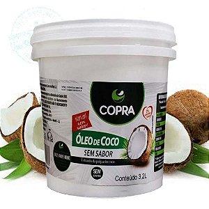 Óleo De Coco Sem Sabor Copra Balde 3,2 Litros
